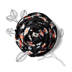 Coracor Abstract Flower Black Baby wrap
