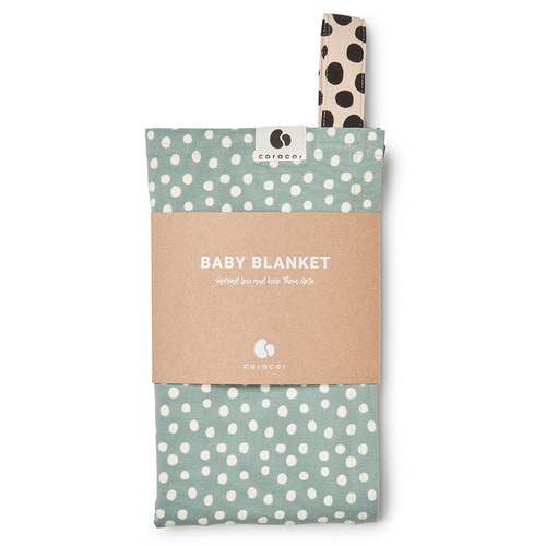 Coracor Big Dot Green Baby blanket