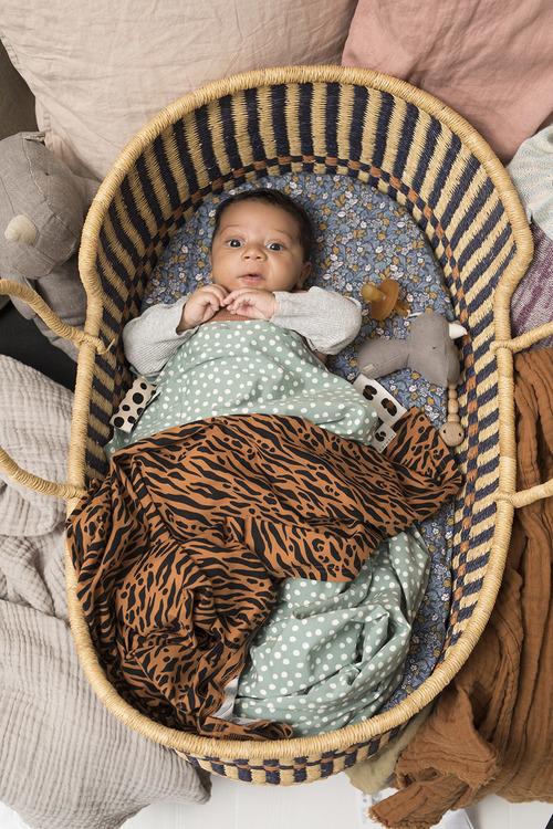 Coracor Zebra Terracotta Babyfilt