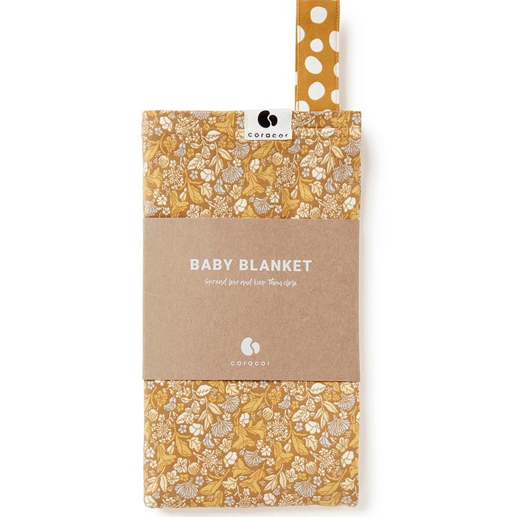 Coracor Tinyflower Honey Baby blanket