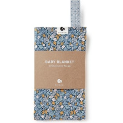 Coracor Tinyflower Blue Baby blanket