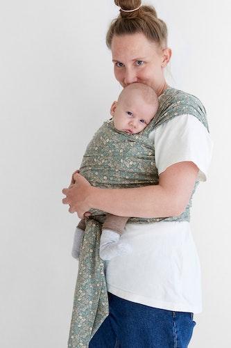 Coracor Tinyflower Green Baby wrap
