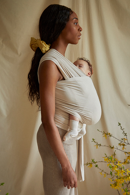 Coracor Natural Dye Walnut Baby wrap