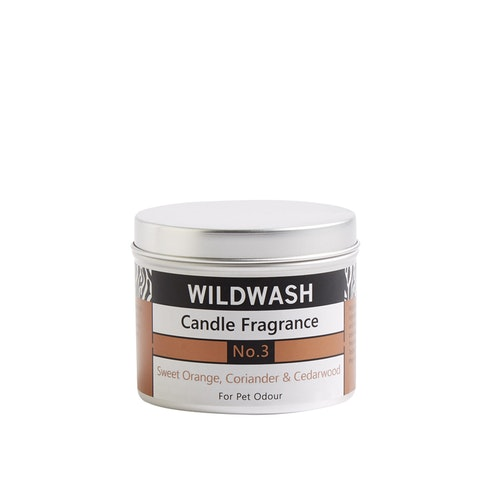 WildWash Natural Candle in a tin Fragrance No.3