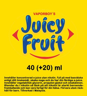 Juicy Fruit 50ml+ shortfill