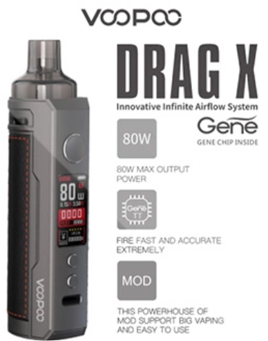 VOOPOO DRAG X 80W VAPE KIT
