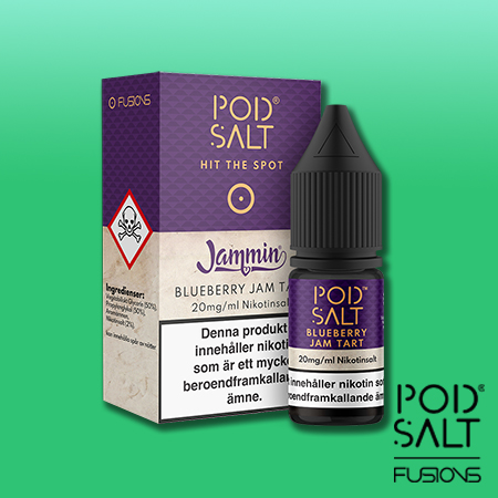 Pod Salt Fusions - 10ml - Blueberry Jam Tart