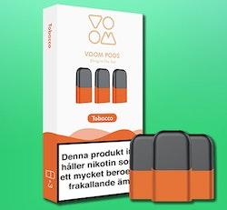 VOOM - pod med smak  av TOBACCO 3-pack