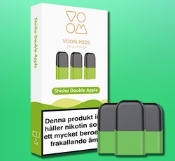 VOOM - pod med smak  av DOUBLE APPLE 3-pack