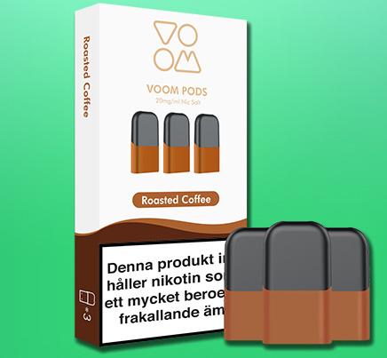 VOOM - pod med smak  av ROASTED COFFEE 3-pack
