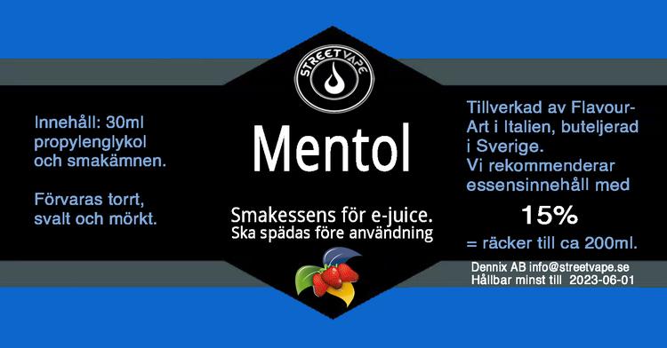 Essens 30ml Mentol (rek 15%)