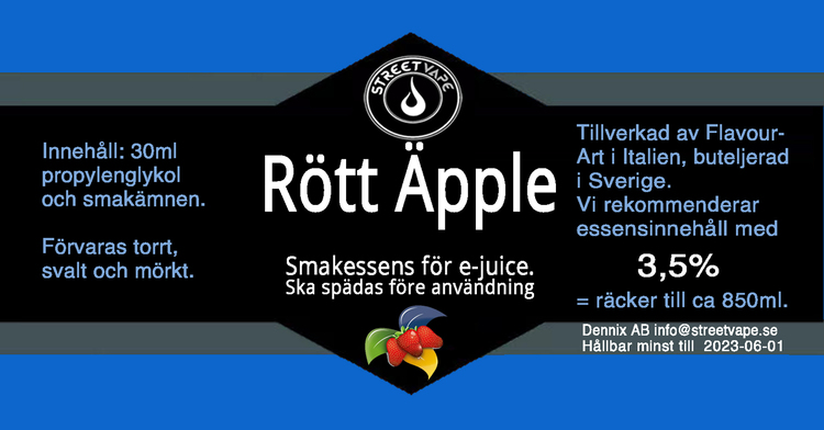 Essens 30ml Rött Äpple (rek 3.5%)