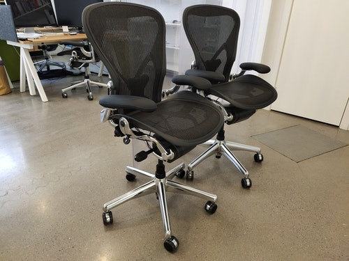 Herman Miller Aeron Medium/B Refurbished Aluminium