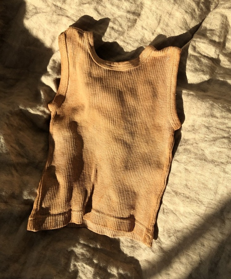 PLANT DYED RIBBED BABY SINGLET