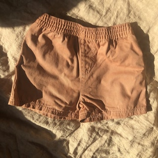 PLANT DYED COTTON SHORTS BROWN