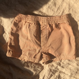 PLANT DYED COTTON SHORTS CLAY