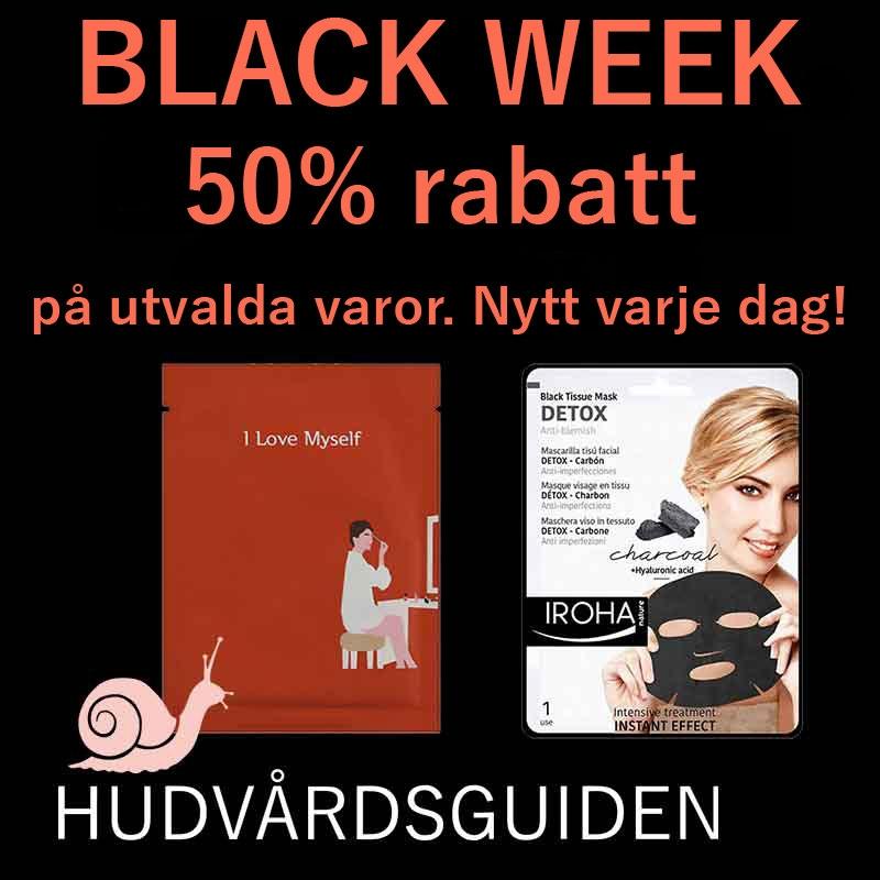BLACK WEEK 50% rabatt i 24 timmar