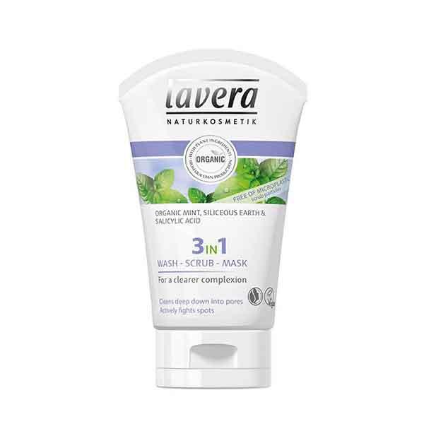 LAVERA Pure Beauty 3In1 Wash Scrub Mask 125 ml