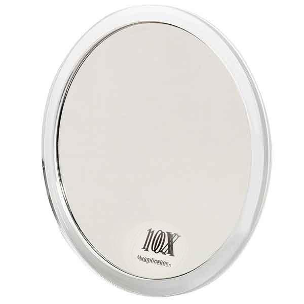 Spegel med förstoring x10 och sugproppar 16,7 cm