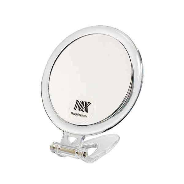 Spegel med förstoring x10 10,5 cm
