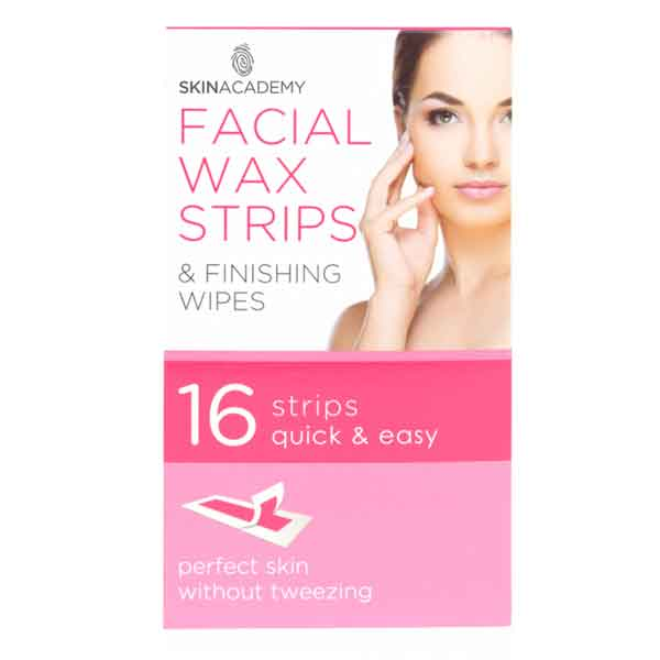 SKIN ACADEMY Pretty Smooth Facial Wax Strips & Finishing Wipes
