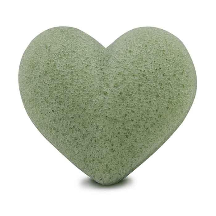 Konjac Sponge svamp hjärta Green Tea