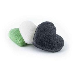 Organic Konjac Sponge svamp hjärta