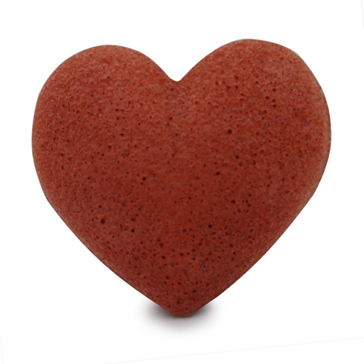 Konjac Sponge svamp hjärta Fransk lera