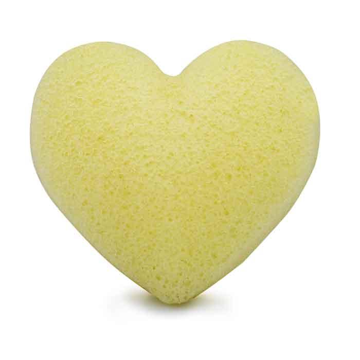 Konjac Sponge svamp hjärta Lemon
