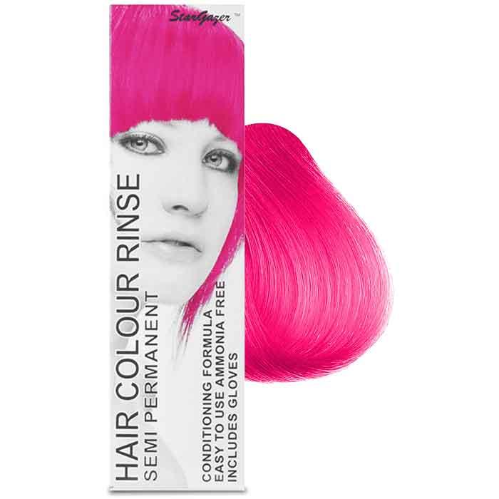 StarGazer Hair Colour Rinse Semi Permanent UV Pink