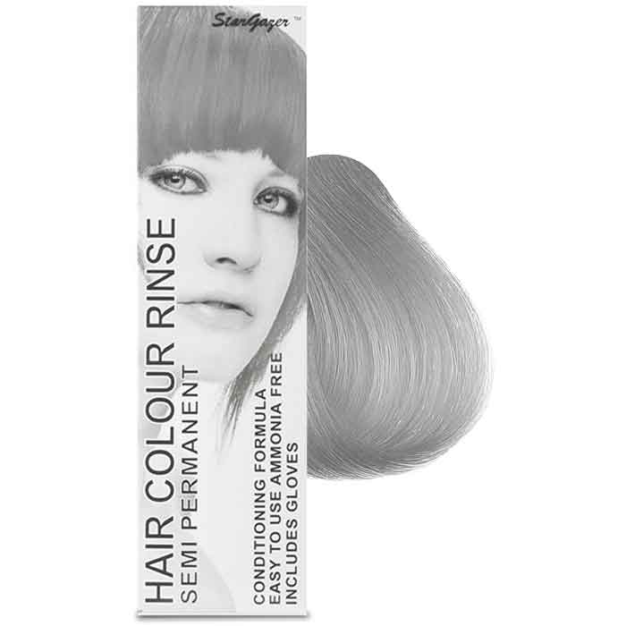 StarGazer Hair Colour Rinse Semi Permanent Silverlook