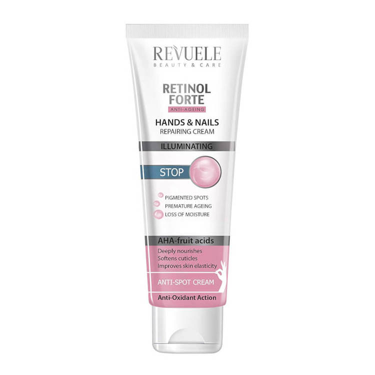 REVUELE Retinol Forte Hands & Nails Repairing Cream AHA-fruit acids