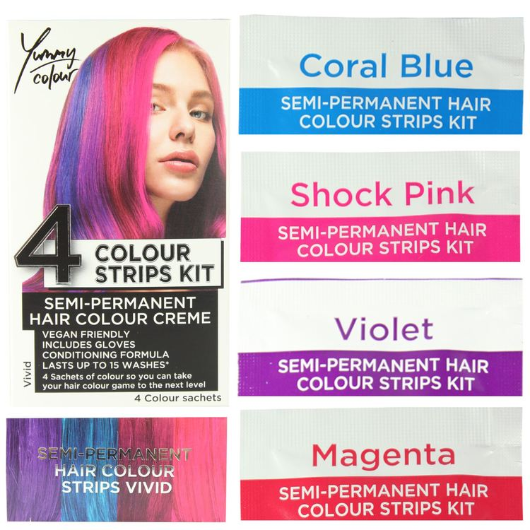StarGazer Yummy Colour 4 Colour Strips Kit Vivid