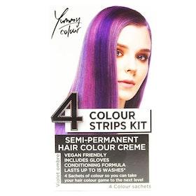 StarGazer Yummy Colour 4 Colour Strips Kit Violet Ombre