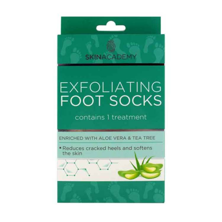 SKIN ACADEMY Exfoliating Foot Socks Aloe Vera & Tea Tree