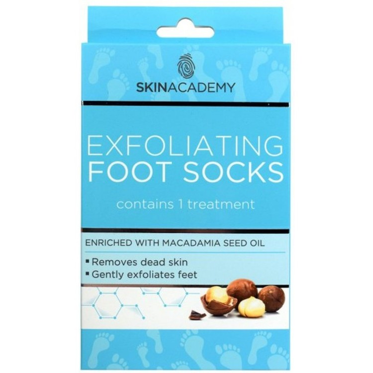 SKIN ACADEMY Exfoliating Foot Socks Macadamia Seed Oil