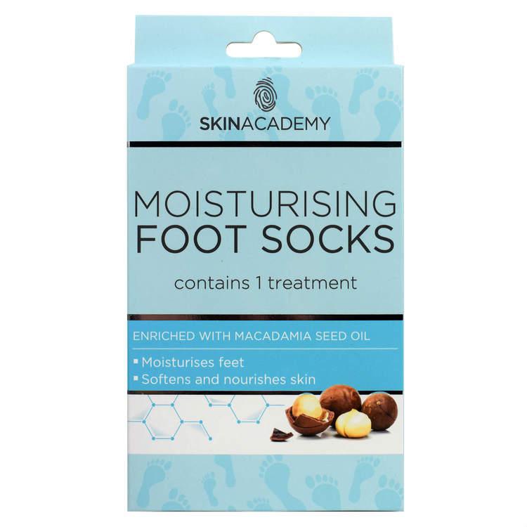 SKIN ACADEMY Moisturising Foot Socks Macadamia Seed Oil