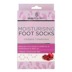 SKIN ACADEMY Moisturising Foot Socks Rose Flower & Pomegranate