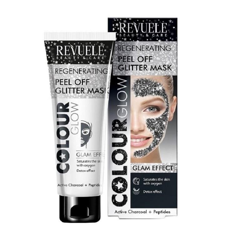 REVUELE Regenerating Peel Off Glitter Mask Black