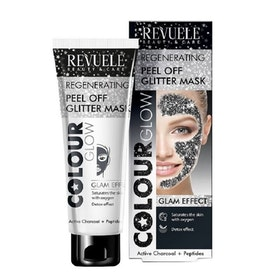 REVUELE Regenerating Peel Off Glitter Mask Black