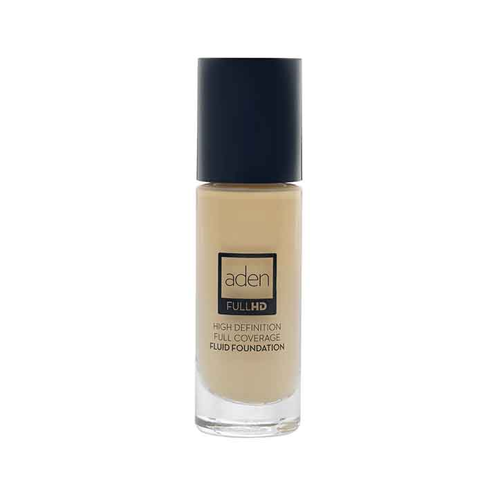Aden Full HD Fluid Foundation 02 Ivory