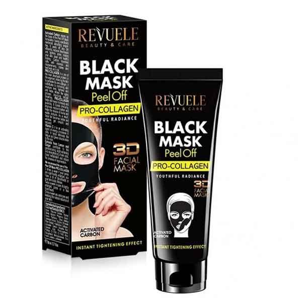 REVUELE Black Mask 3D Facial Peel Off PRO-COLLAGEN