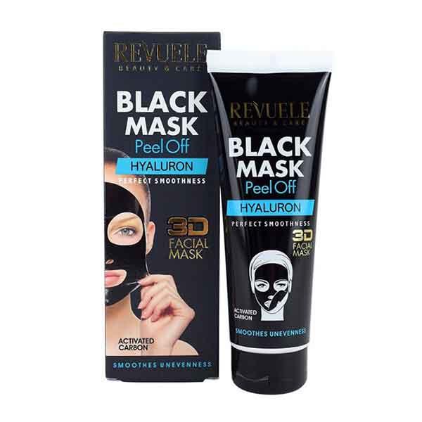 REVUELE Black Mask 3D Facial Peel Off HYALURON
