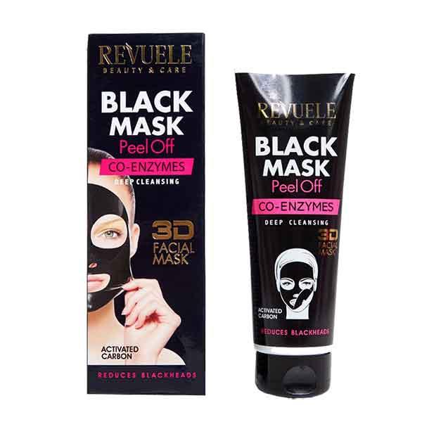 REVUELE Black Mask 3D Facial Peel Off CO-ENZYMES