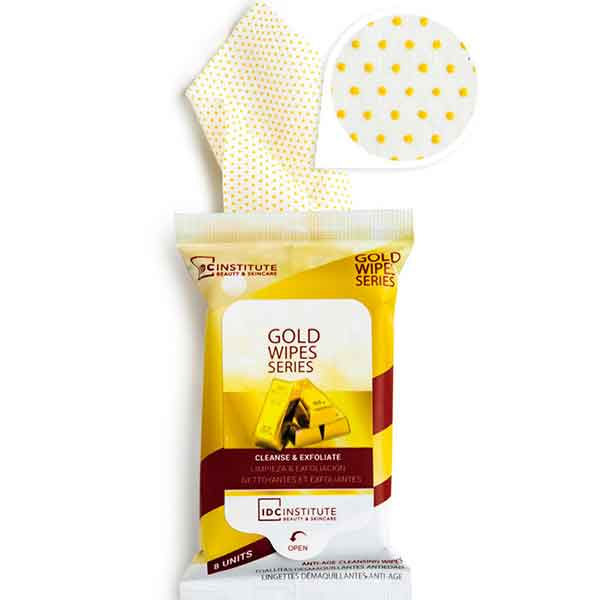 IDC INSTITUTE Duo Gold Wipes 8 st Cleanse & Exfoliate