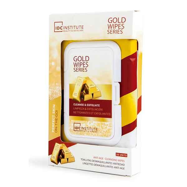 IDC INSTITUTE Duo Gold Wipes 25 st Cleanse & Exfoliate