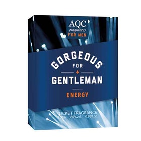 AQC Fragrances Gorgeous For Gentleman Energy Pocket