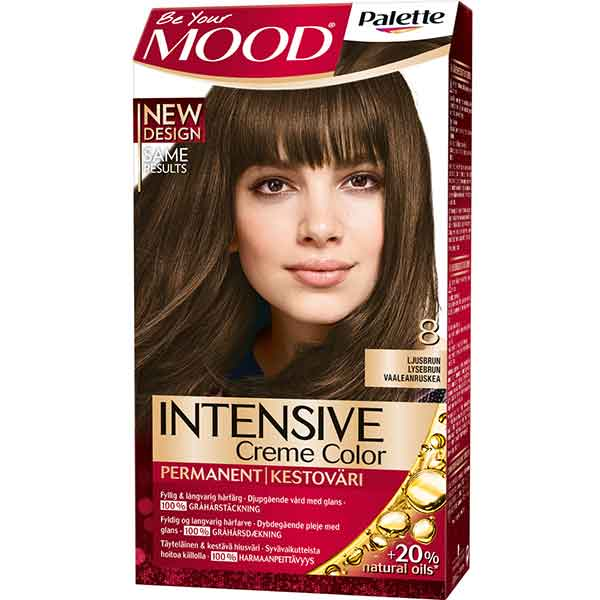 Mood Palette Intensive Cream Colour Ljusbrun nr 8