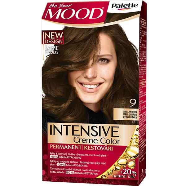 Mood Palette Intensive Cream Colour Mellanbrun nr 9