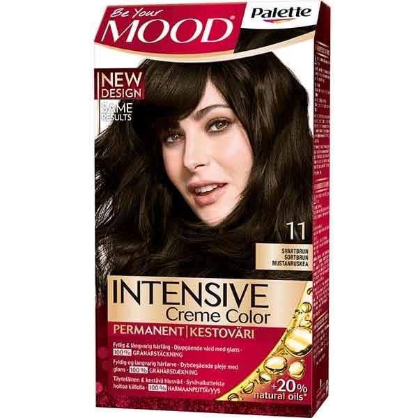 Mood Palette Intensive Cream Colour Svart brun nr 11